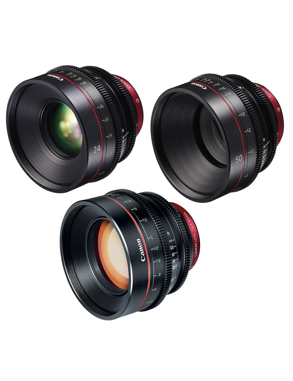 Canon - KIT DE OBJETIVOS CINE 24/50/85 (M)