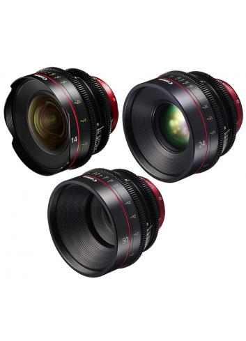 Canon - KIT DE OBJETIVOS CINE 14/24/50 (M)