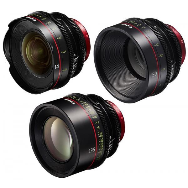 Canon - KIT DE OBJETIVOS CINE 14/50/135 (M)