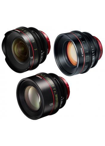 Canon - KIT DE OBJETIVOS CINE 14/85/135 (M)