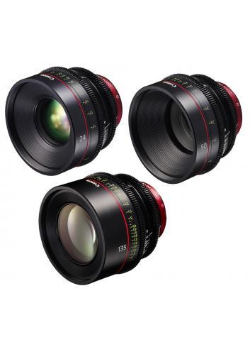 Canon - KIT DE OBJETIVOS CINE 24/50/135 (M)