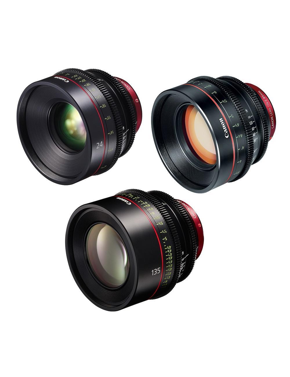 Canon - KIT DE OBJETIVOS CINE 24/85/135 (M)