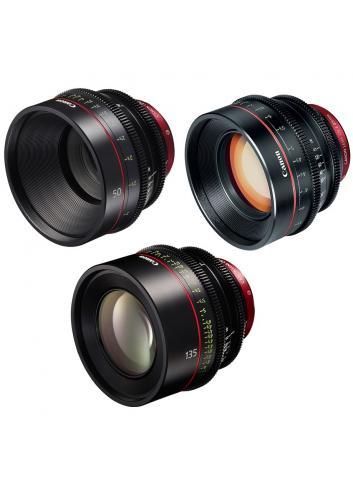 Canon - KIT DE OBJETIVOS CINE 50/85/135 (M)