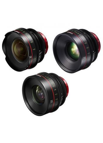Canon - KIT DE OBJETIVOS CINE 14/24/35 (M)