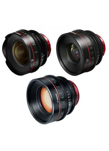 Canon - KIT DE OBJETIVOS CINE 14/35/85 (M)