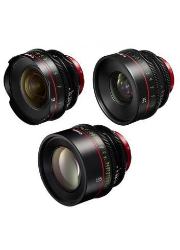 Canon - KIT DE OBJETIVOS CINE 14/35/135 (M)