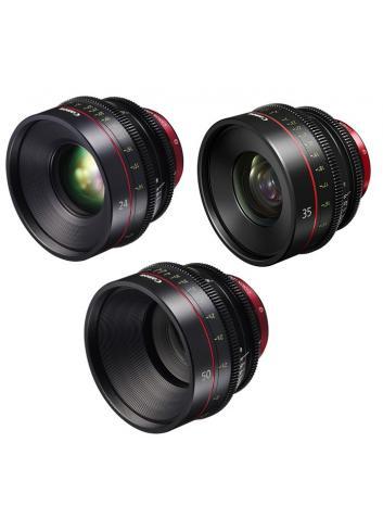 Canon - KIT DE OBJETIVOS CINE 24/35/50 (M)
