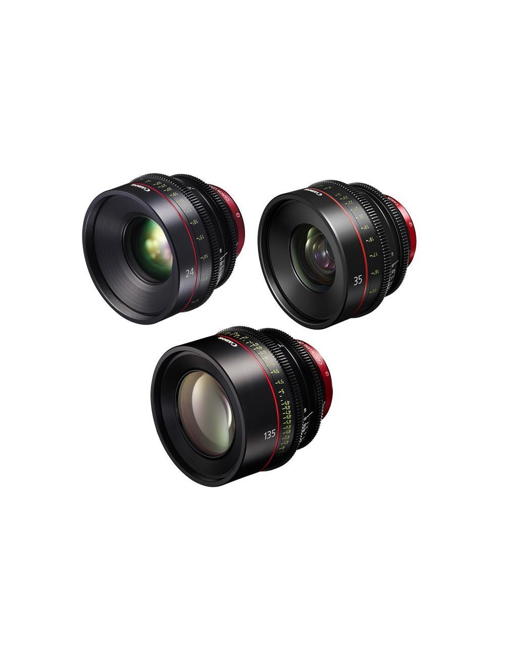 Canon - KIT DE OBJETIVOS CINE 24/35/135 (M)