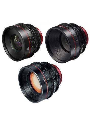 Canon - KIT DE OBJETIVOS CINE 35/50/85 (M)