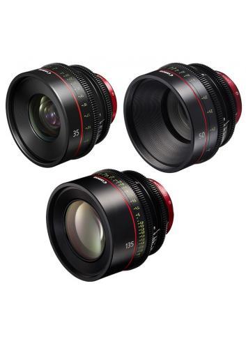 Canon - KIT DE OBJETIVOS CINE 35/50/135 (M)