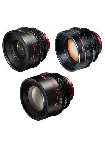 Canon - KIT DE OBJETIVOS CINE 35/85/135 (M)
