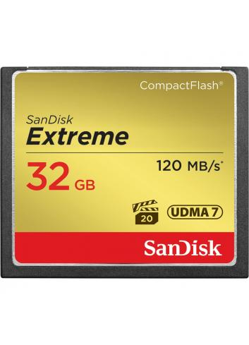 Sandisk COMPACT FLASH EXTREME 120MB/s, 85MB/s write, UDMA7