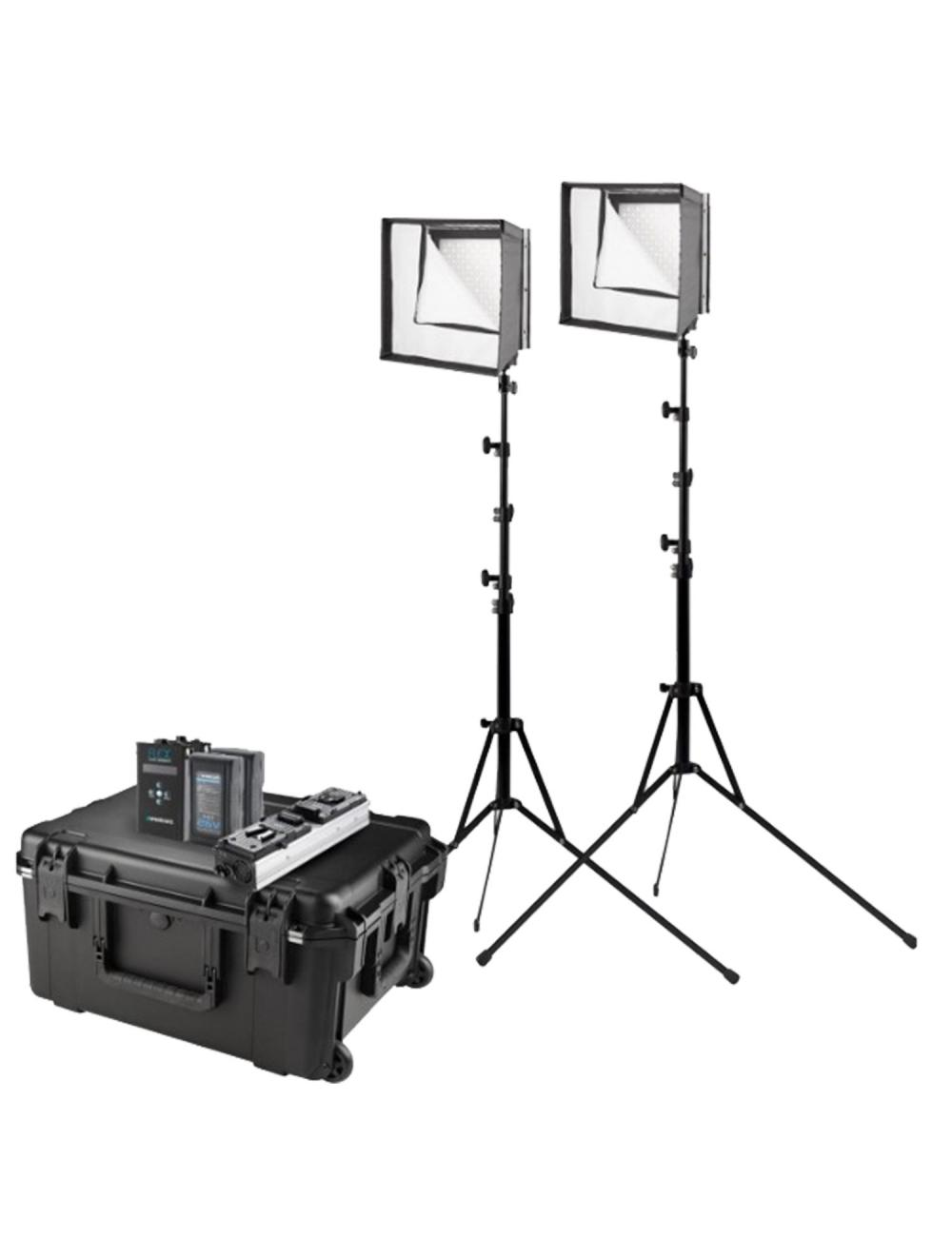 Westcott Flex Daylight LED 2-Light Cine Travel Kit 1x 1