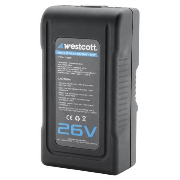 Westcott Batería de litio de 26 voltios.