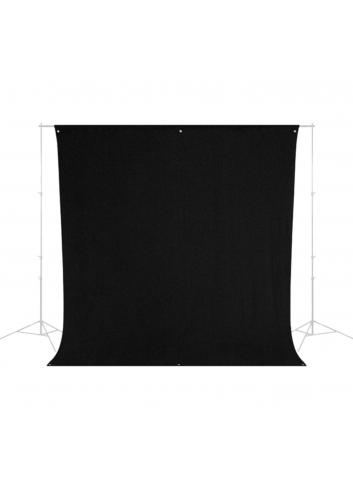 Westcott Wrinkle-Resistant Backdrop - Rich Black