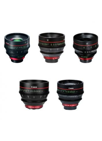 Canon CN-E EF 5 Prime Bundle: 20/24/35/50/85 MTR