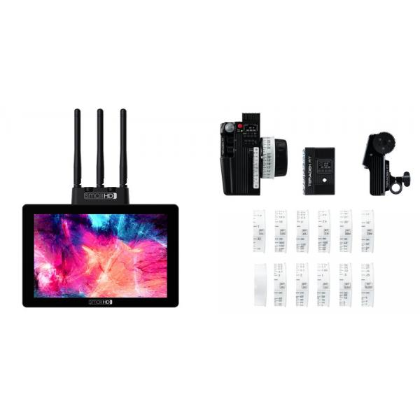 Teradek RT CTRL.3 Wireless Lens Control Kit (1-Motor) + SmallHD Cine 7 -SK-RX monitor Full HD -DCI-P3 Color