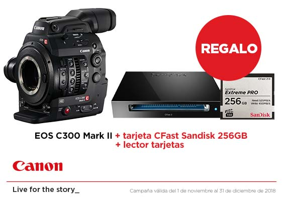 canon c300 mark ii regalo tarjeta lector