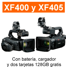 canon xf400 405 cargador bateria tarjetas gratis